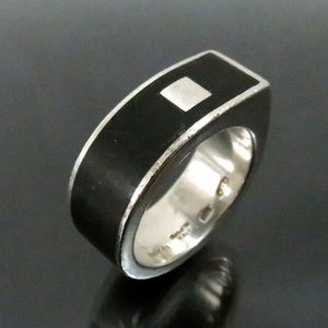 Auth GUCCI Ring 925 Sterling Silver Made In Italy